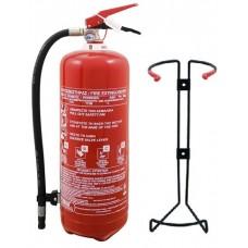 Πυροσβεστήρας ξηράς κόνεως 6Kg ABC40% ΑΥΤΟΚΙΝΟΥΜΕΝΟΥ ΤΡΟΧΟΣΠΙΤΟΥ