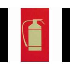 Σήμανση πυροσβεστήρα 27Χ14cm φωσφοριζέ PVC