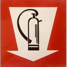 Σήμανση πυροσβεστήρα 30Χ30cm αλουμίνιο