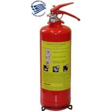Πυροσβεστήρας ξηράς κόνεως 2Kg ABC40% για Ι.Χ. όχημα CE/EN3